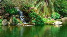 Relax at the Spa - Gentle Waterfall In Tropical Surroundings With Music for Relaxing and Meditation - Nature Sounds