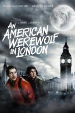 Capa do filme Um Lobisomem Americano em Londres (An American Werewolf in London)