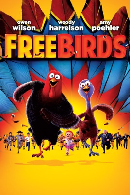 Poster of Free Birds 2013 Full Hindi Dual Audio Movie Download BluRay 720p