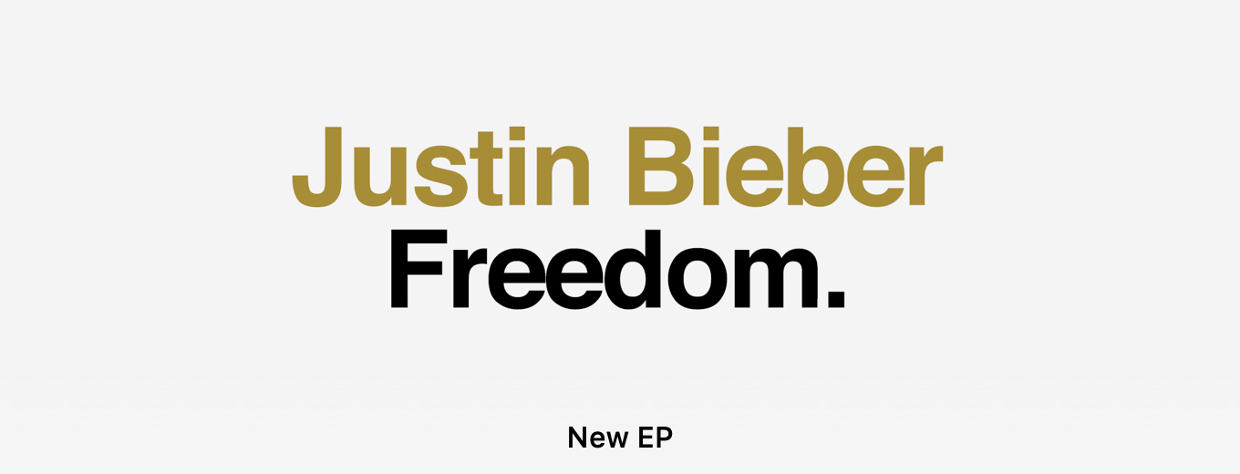 Freedom. - EP by Justin Bieber